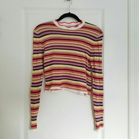 3e17880f Zara Tops | Striped Knit | Poshmark